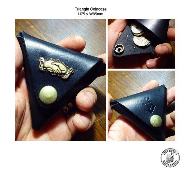 GOODFORIT / 日本Last Light Triangle Coincase植鞣皮革黃銅零錢包
