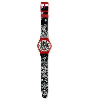 Swatch  限量錶 設計品牌 附盒 保証書 (GR117)