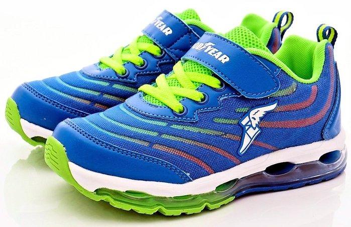 【菲瑪】GOODYEAR 防踢鞋頭 全氣墊緩震跑鞋 弘光系列 藍GAKR78236