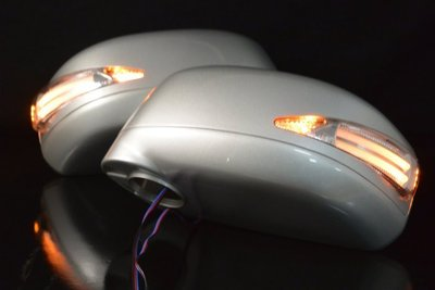 金強車業 日產NISSAN TIIDA 2004  雙功能後視鏡殼(亮銀6KT)+電動折疊馬達 方向燈 小燈