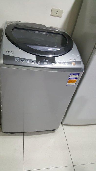 歌林14公斤變頻洗衣機八成新5500保固