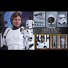 90% New Hottoys Hot Toys MMS 418 Han Solo (Stormtrooper Disguise Version)