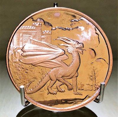 Celtic Lore: Welsh Red Dragon 凱爾特傳說: 威爾士紅龍純銅幣 (1 oz)