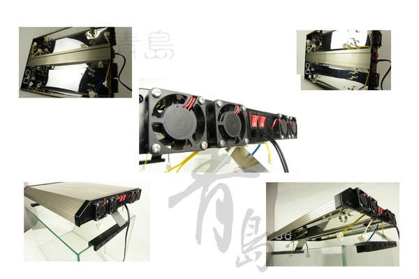 H。青島水族。6DL-4140-1極之光二代T8超薄型鋁合金燈具(含腳架+風扇*4顆+免運)4.1尺六燈(寬32cm)