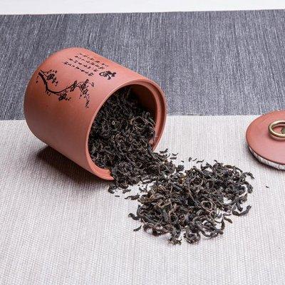 [新品]品茗大號茶葉罐陶瓷宜興紫砂普洱茶醒茶罐茶葉密封罐  〖影時代〗