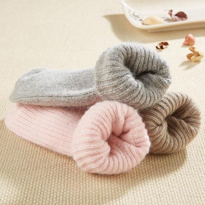 兔羊毛襪女加厚冬季中筒襪厚女士兔毛襪加絨保暖冬天羊絨襪子女