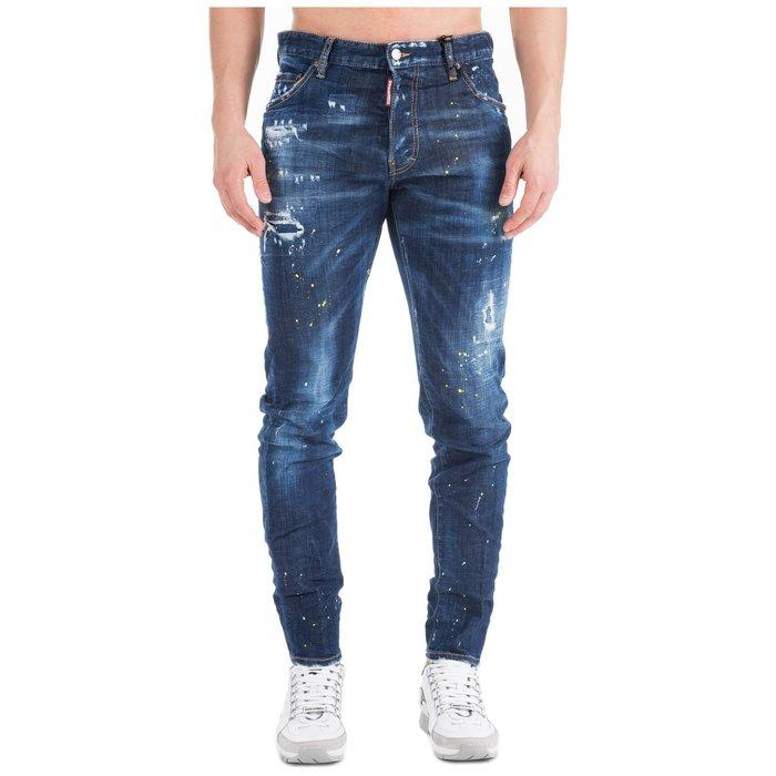 現貨【DSQUARED 2】2019春夏 深色水洗黃漆COOL GUY牛仔褲 *30%OFF*