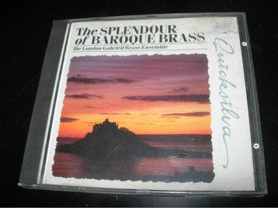 燦爛的巴洛克銅管 The Splendour of Baroque Brass 無IFPI  UK 英國製 半銀圈版