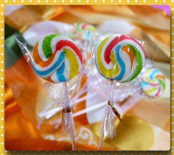 經典彩虹漩渦棒棒糖綜合水果口味台灣製100隻裝