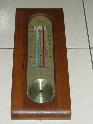 【美國製】早期溫度計 溫度晴雨計 springfield
