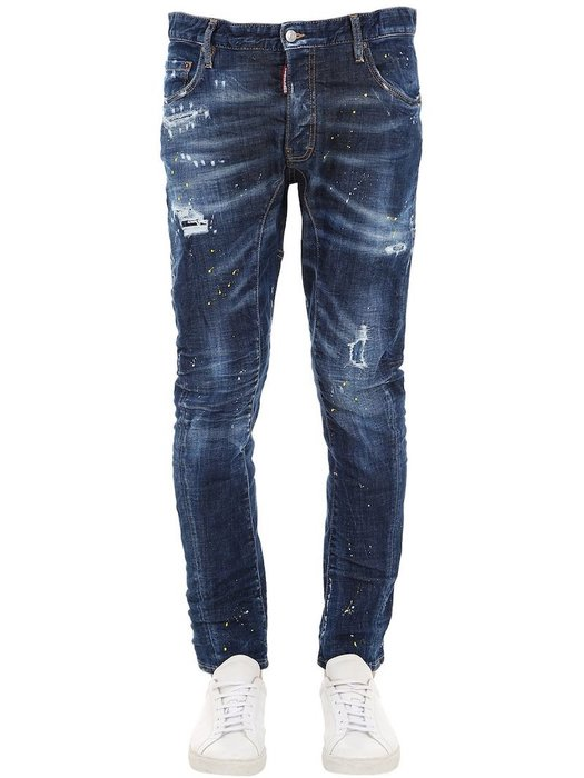 現貨【DSQUARED 2】2019春夏 深色水洗黃漆TIDY BIKER牛仔褲 *30%OFF*