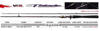 魚海網路釣具 Accurate Spin Pro-II ASPCII系列 槍柄 662H