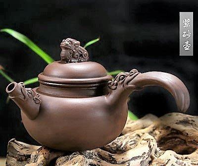 手柄龍壺(側把紫砂壺)