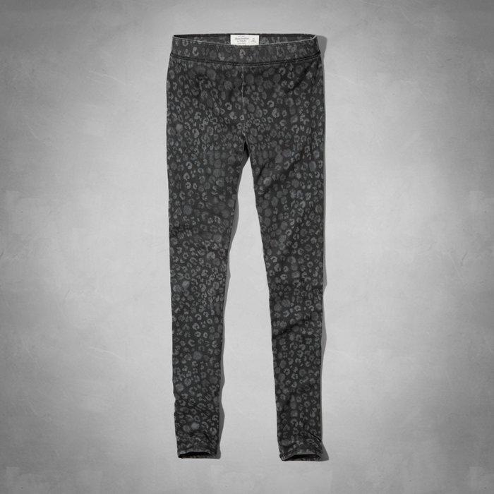 Maple麋鹿小舖 Abercrombie&Fitch * AF 洗舊灰黑圖案內搭褲LEGGING * ( 現貨S號 )
