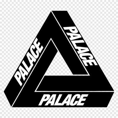 PALACE 三角形 黑  LOGO 3M防水貼紙 尺寸88mm
