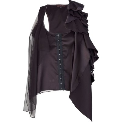 現貨UK 8 英國品牌River Island 波浪邊上衣背心外套 正品代購