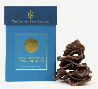 (預購)(英國代購)Lismore dark chocolate apple crisp thins 蘋果黑巧克力薄片100g