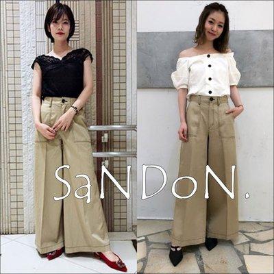 SaNDoN x『COCODEAL』限量單品 車線大口袋復古高腰寬褲 sly 180803