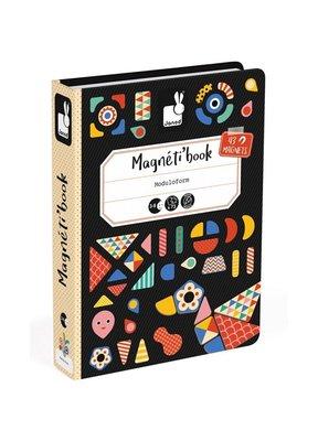 【魔法世界】法國 Janod 創意兒童智玩 磁鐵遊戲書-幾何創意拼
