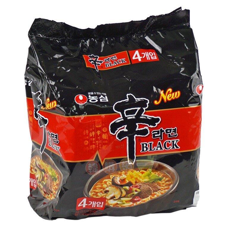 韓國農心辛拉麵內銷版頂級黑辛拉麵1包(4入)