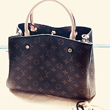 LV Louis Vuitton Montaigne MM Monogram Handbag M41056