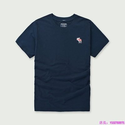 AF 短T Z35寶藍色 男生 A&F 麋鹿 短袖T恤 海鷗 HCO 短Tee 精梳純棉 短袖T-特惠代購