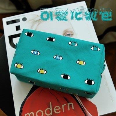 帆布化妝包手拿包(8入)-雜物收納方形趣味女包包3色73pp239[獨家進口][米蘭精品]