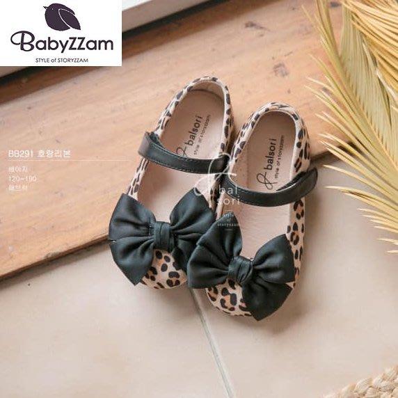 『※妳好,可愛※』妳好可愛韓國童鞋 BABYZZAM~正韓 時尚豹紋娃娃鞋