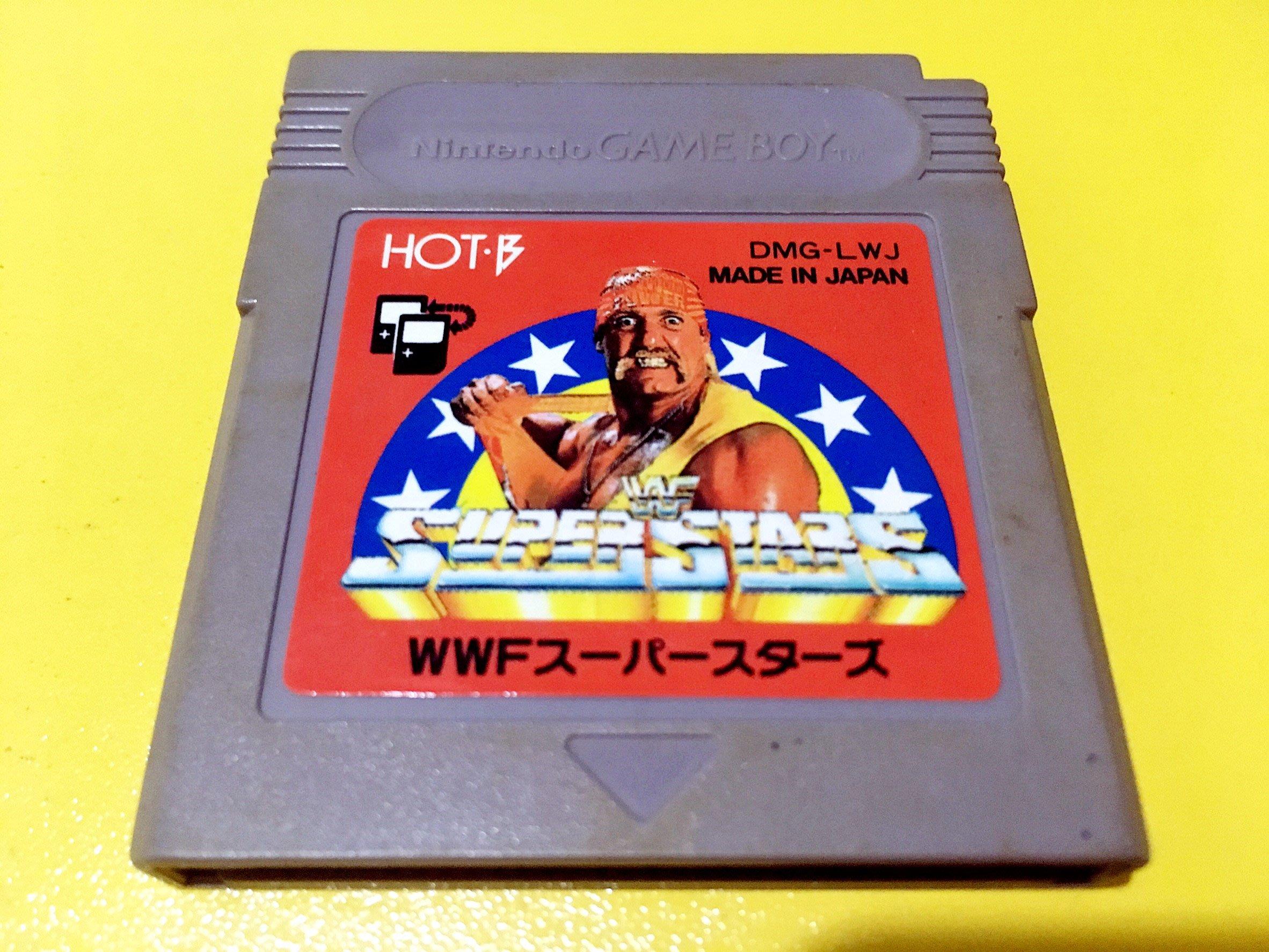 幸運小兔 GB遊戲 GB WWF 超級明星摔角 WWF Super Stars GameBoy GBA 適用 D6