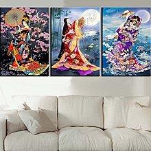 日式浮世繪裝飾畫仕女圖掛畫榻榻米美女圖壁畫日本料理店無框畫(多款可選)