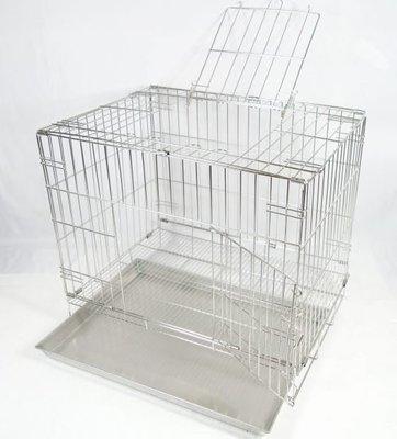 【優比寵物】2尺不銹鋼/ 不鏽鋼(雙門活動摺疊式)白鐵304#級狗籠/ 貓籠/ 兔籠/ 寵物籠 -優惠價 --台灣製造- 高雄市