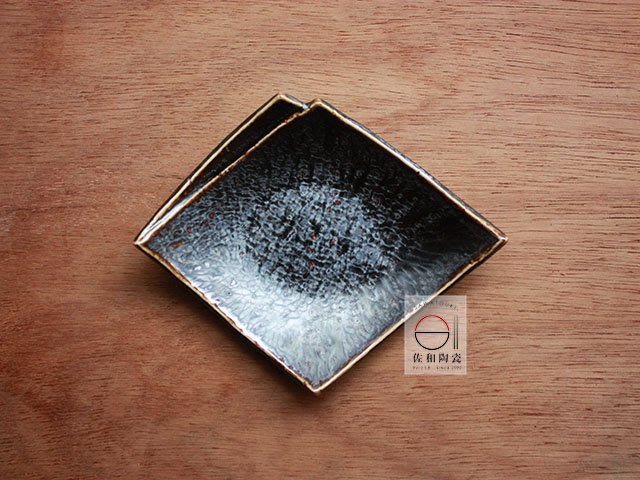 +佐和陶瓷餐具批發+【XL070913-10溶岩流菱形6皿-日本製】日本製 招待皿 營業餐具 造型皿 皿 小菜盤 食器