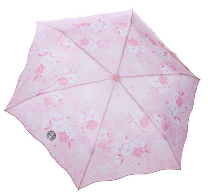 天使熊雜貨小舖~Starbucks 星巴克 粉櫻綻放雨傘  全新現貨