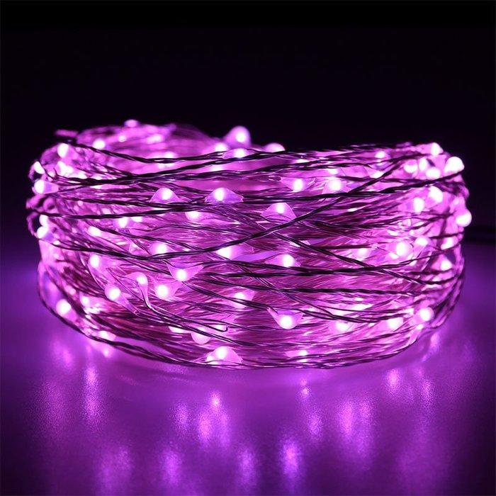 LED銅線燈串20灯2米USB款☆ VITO zakka ☆戶外婚慶節日裝飾彩燈波波球電池銅線燈