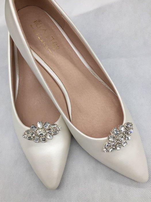 DAFA 小菱角可拆卸式鞋扣/鞋飾/新娘鞋/晚宴鞋/晚宴鞋 婚禮 婚禮小物 現貨~~~