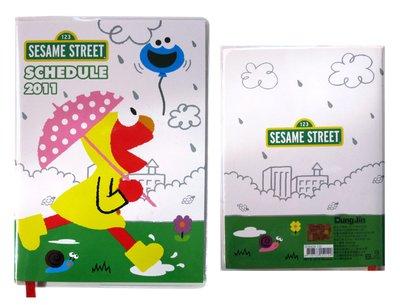 【卡漫迷】出清 收藏 2011年 Elmo 行事曆 ㊣版 Sesame Street 芝麻街  收藏 日誌本 記事本