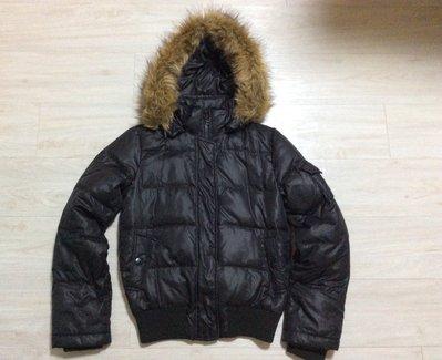☆GAP☆ XS 36號 黑色活動式連帽 超防風保暖休閒羽絨外套 可併運 付款即出