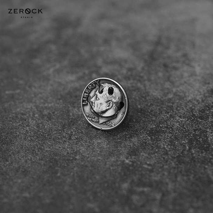 《ZEROCK》日本 NORTH WORKS 10美分 微笑臉PIN 小別針