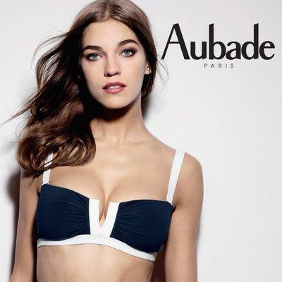 全新法國 Aubade 泳衣 夏日風尚Summer lounge系列, 藍白色尺寸S, 吊牌未拆