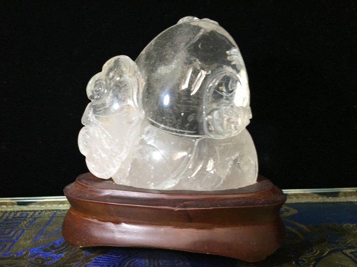 *藏雅軒*天然水晶雕刻迷你小擺件-清料白水晶-福在眼前系列(八)