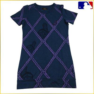 日本二手衣✈️短袖T恤 印花 長版T恤 圓領短T MLB 棒球圓領T 棒球衣 運動休閒 女 S~M号 A1137M