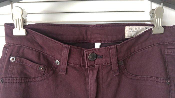rag & bone 暗紅色鉛筆褲窄管褲