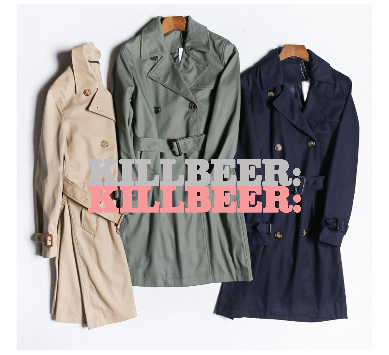 KillBeer:經典就是不會被換之 歐美復古英倫簡約軍裝百搭收腰長版防風外套風衣大衣zara uniqlo022014