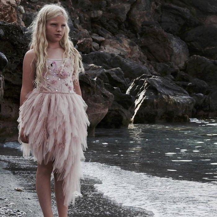 ♡NaNa Baby♡ 荷蘭 DOLLY 公主奇幻冒險系列-FLAMINGO洋裝(芭蕾粉)