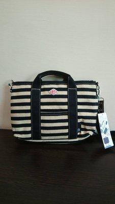 ROO-Carriage  ♥日本品牌♥ 駝 x 黑 橫條紋 2way 斜背 / 手提 兩用包