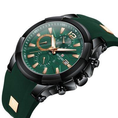 【潮裡潮氣】REWARD矽膠錶帶防水運動男士手錶跨境精品多功能石英男錶RD83006M