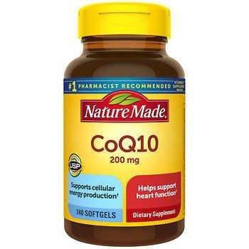 現貨 美國進口 全新包裝 萊萃美 輔酶 Nature Made CoQ10 200mg 140顆 效期:2022/10