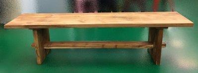 宏品家具 台中二手傢俱賣場HM821HJ老柚木176長方板凳*(中) 戶外休閒桌椅 麻將桌椅台北桃園新竹苗栗台中彰化