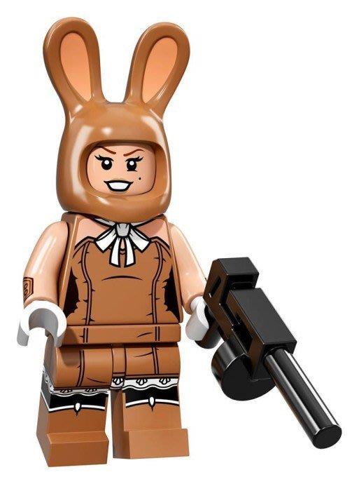 現貨【LEGO 樂高】Minifigures人偶系列: 蝙蝠俠電影人偶包抽抽樂 71017 | #17 兔子女郎+槍