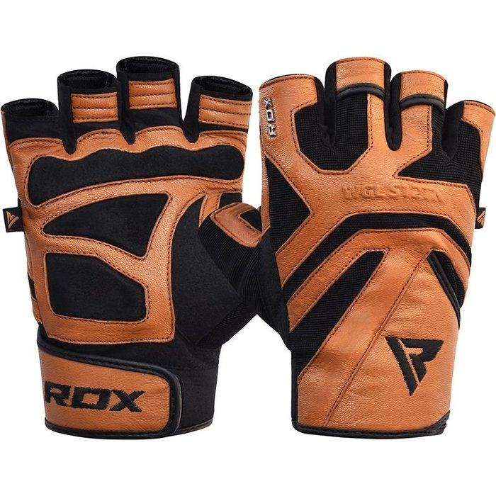 【線上體育】RDX GYM GLOVE LEATHER S12 TAN RDX008